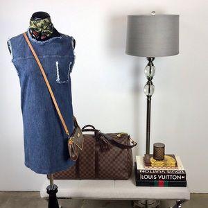 Acne Omega Sleeveless Denim Dress w/ Zippers